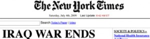 New York Times: Iraq War Ends