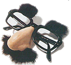 Falsies award: groucho glasses