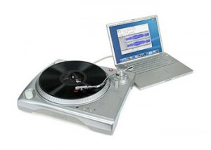 Plastic USB record player