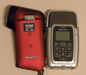 Xacti CG10 and the Zoom H2