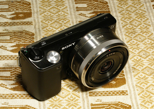 My Sony NEX-5, with a 16mm pancake lens